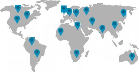 Map of GCR clinics